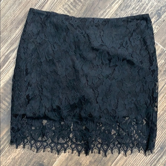 BB Dakota Dresses & Skirts - Black lace mini skirt